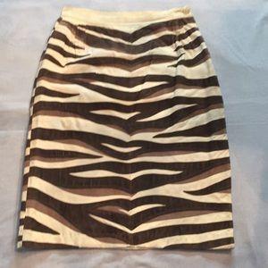 Valentino Pieced Suede Skirt